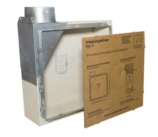 Unterputzgehäuse U/BU mit eingebauter Brandschutzsicherung BU